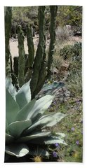 Trail Of Cactus Hand Towel