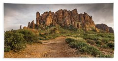 Trail To Superstitions 2 Hand Towel