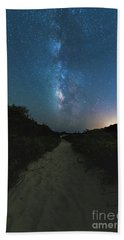Trail To The Milky Way Hand Towel by Robert Loe