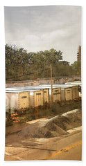 Trailers On Plankinton Hand Towel by David Blank
