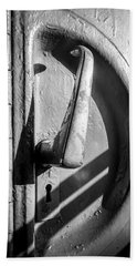 Hand Towel featuring the photograph Train Door Handle by John Williams