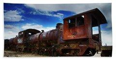 Train Graveyard Uyuni Bolivia 15 Hand Towel