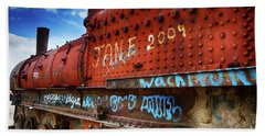 Train Graveyard Uyuni Bolivia 17 Hand Towel