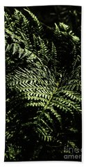 Tranquil Botanical Ferns Bath Towel