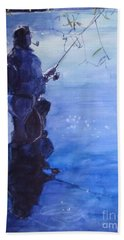 Tranquil Fishing Hand Towel