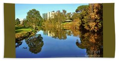 Hand Towel featuring the photograph Tranquil River By Kaye Menner by Kaye Menner