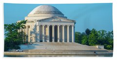 Tranquility At The Jefferson Memorial Hand Towel