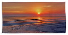Tranquility - Florida Sunset Hand Towel by HH Photography of Florida