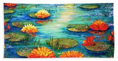 Hand Towel featuring the painting  Tranquility V  by Teresa Wegrzyn
