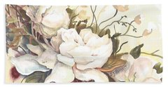 Tranquility Study In White Hand Towel