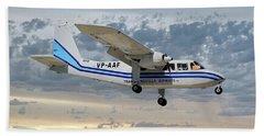 Trans Anguilla Airways Britten-norman Bn-2b-21 Islander 114 Hand Towel