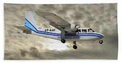 Trans Anguilla Airways Britten-norman Bn-2b-21 Islander 115 Hand Towel