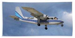 Trans Anguilla Airways Britten-norman Bn-2b-21 Islander 117 Hand Towel
