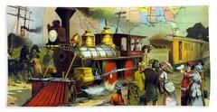 Transcontinental Railroad Hand Towel