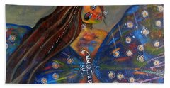 Bath Towel featuring the painting Transform by Prerna Poojara