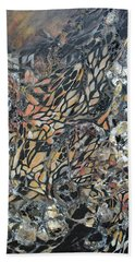 Hand Towel featuring the mixed media Transformation by Joanne Smoley