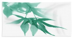 Hand Towel featuring the photograph Translucent Teal Leaves by Jennie Marie Schell
