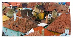 Transylvania Rooftops Bath Towel