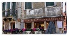 Trattoria Dona Onesta In Venice, Italy Hand Towel