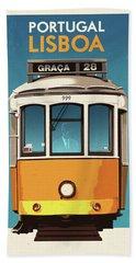 Travel Posters - Lisbon Portugal Hand Towel