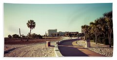 Hand Towel featuring the photograph Treasure Island Beach Trail by Joel Witmeyer