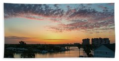 Hand Towel featuring the photograph Treasure Island Sunrise by RC Pics