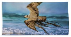 Treasures For The Nest Osprey Art Hand Towel by Jai Johnson