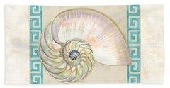 Treasures From The Sea - Nautilus Shell Interior Hand Towel
