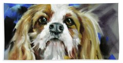 Bath Towel featuring the painting Treat Expectations by Rae Andrews