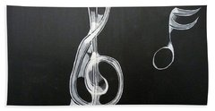 Treble Clef Bath Towel