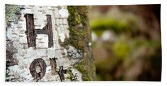 Tree Bark Graffiti - H 04 Hand Towel