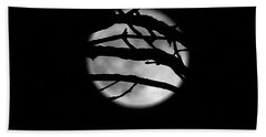 Tree Branch Cover Over The Super Moon Hand Towel by Yumi Johnson