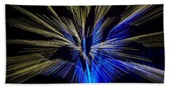 Tree Burst Of Blue And Yellow Hand Towel