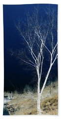 Bath Towel featuring the photograph Tree By Stream by Stuart Turnbull