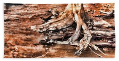Tree By The Ocean 1 Bath Towel