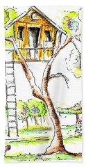 Tree House  Hand Towel