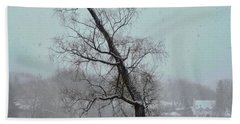 Tree In A Blizzard Hand Towel