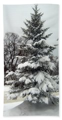 Tree In Snow Hand Towel
