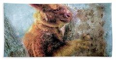 Bath Towel featuring the photograph Tree Kangaroo by Wallaroo Images