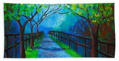 Tree Lined Fence Bath Towel