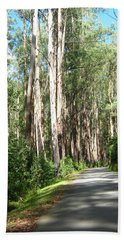 Tree Lined Mountain Road Hand Towel