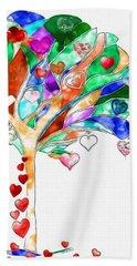 Tree Of Hearts Bath Towel