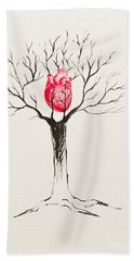 Tree Of Hearts Bath Towel
