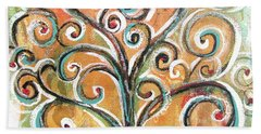 Tree Of Life Hand Towel by Chris Hobel