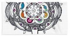 Tree Of Life - Ink Drawing Hand Towel