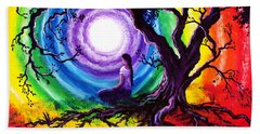 Tree Of Life Meditation Hand Towel