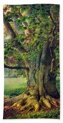 Tree Of Wisdom Hand Towel by John Rivera