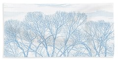 Hand Towel featuring the photograph Tree Silhouette Blue by Jennie Marie Schell
