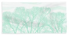 Hand Towel featuring the photograph Tree Silhouette Teal by Jennie Marie Schell