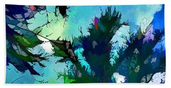 Tree Spirit Abstract Digital Painting Hand Towel